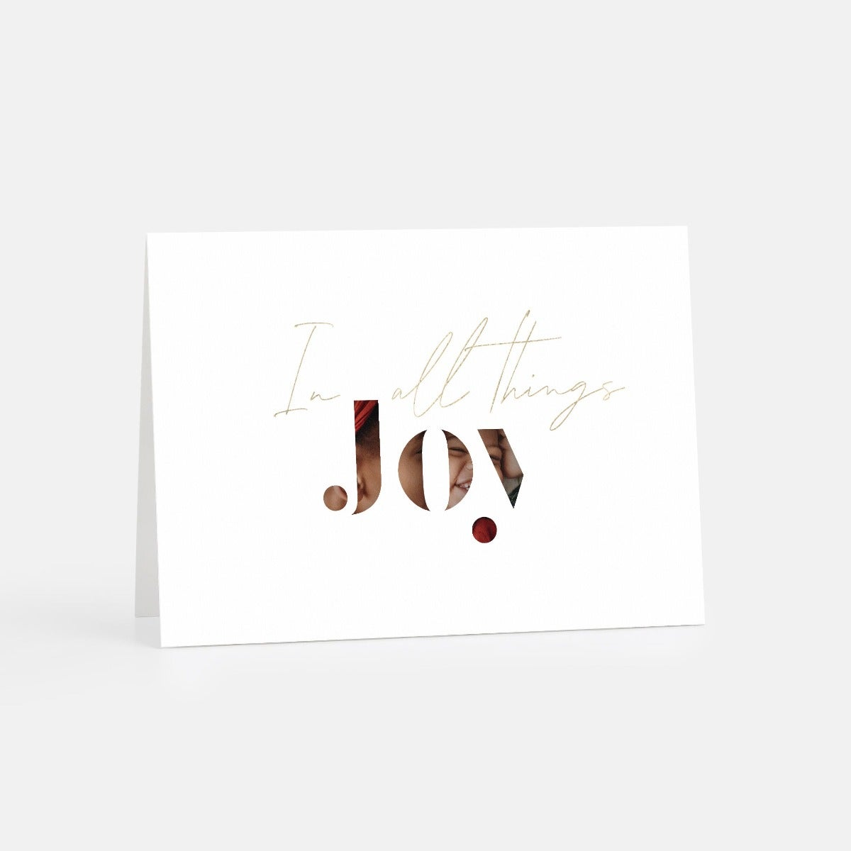 Joy Stencil Letters Holiday Card