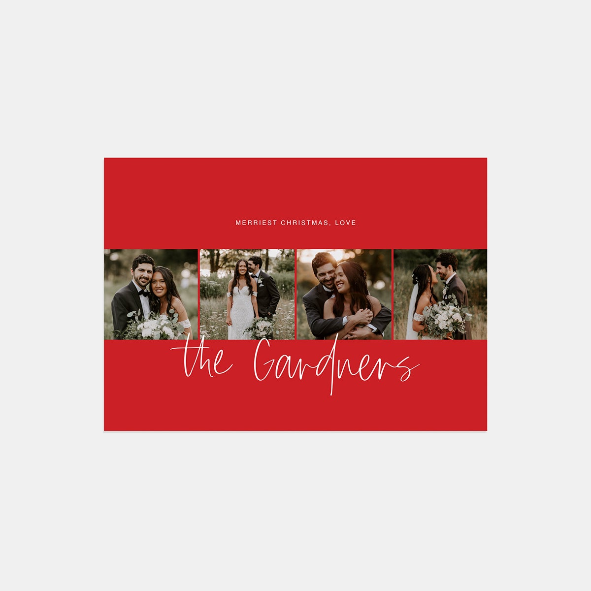 Hand-lettered Filmstrip Holiday Card