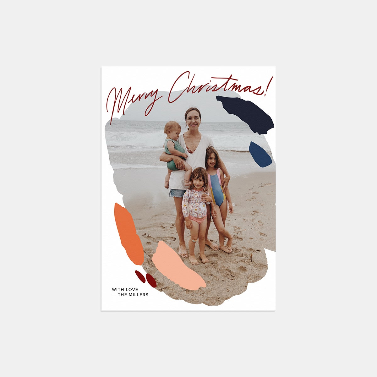 Painted Palette Holiday Card