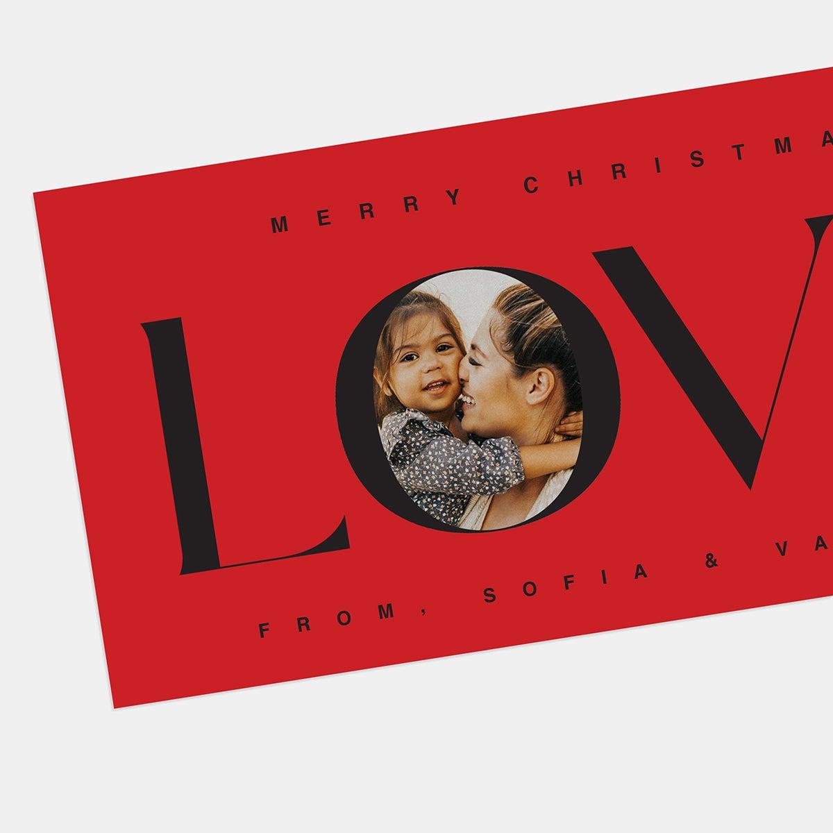 Word Window Holiday Card