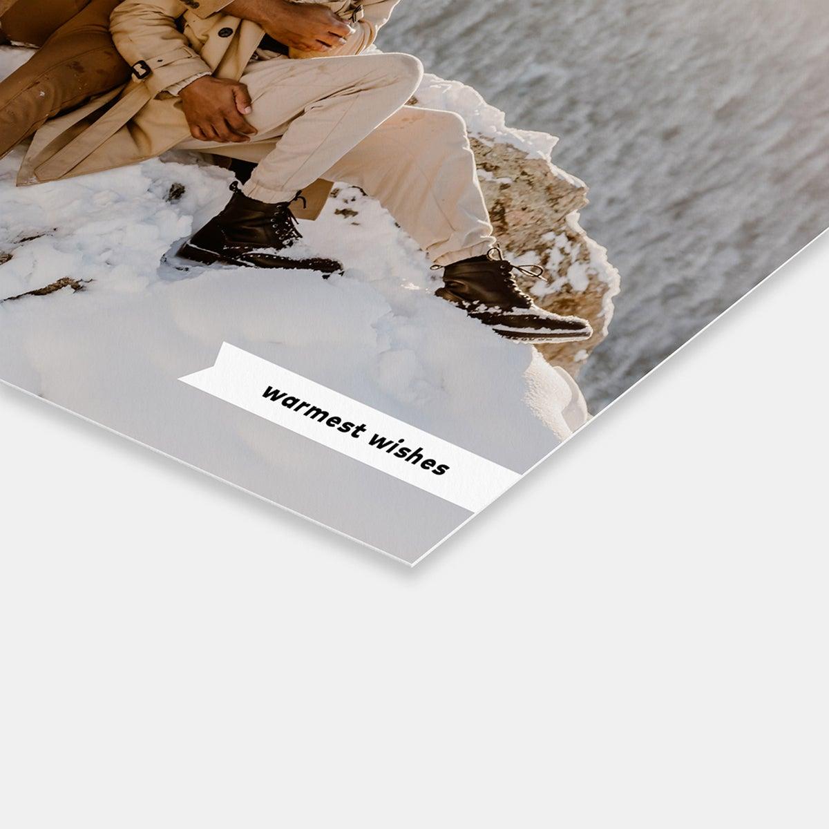 Minimal Ribbon Holiday Card