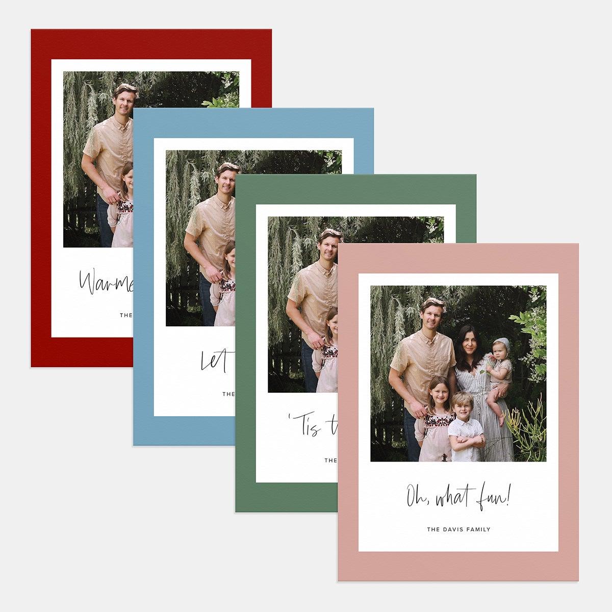 Retro Print Holiday Card