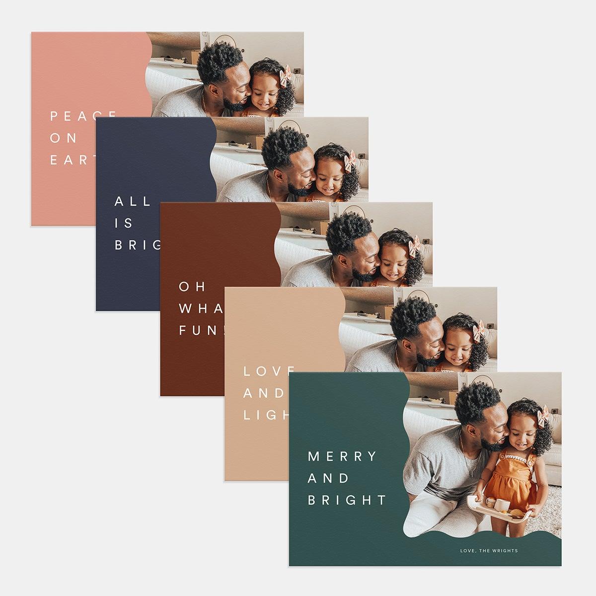 Wavy Holiday Card