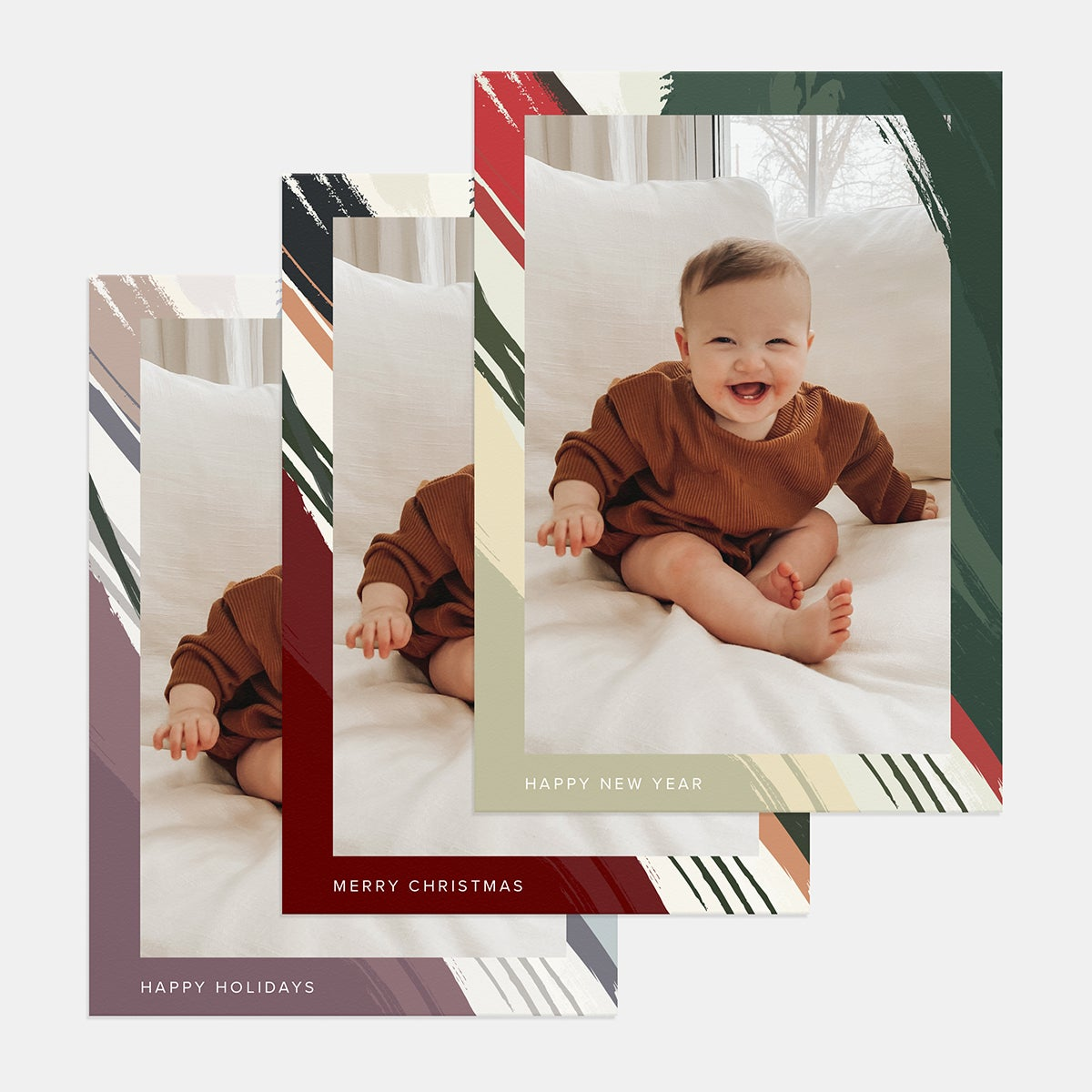 Striped Strokes Holiday Card