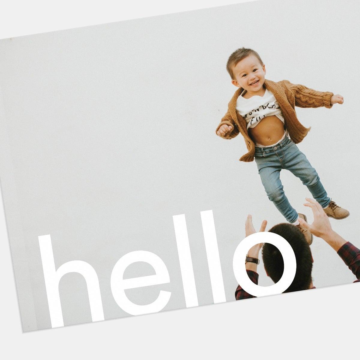 Bold Hello Greeting Card