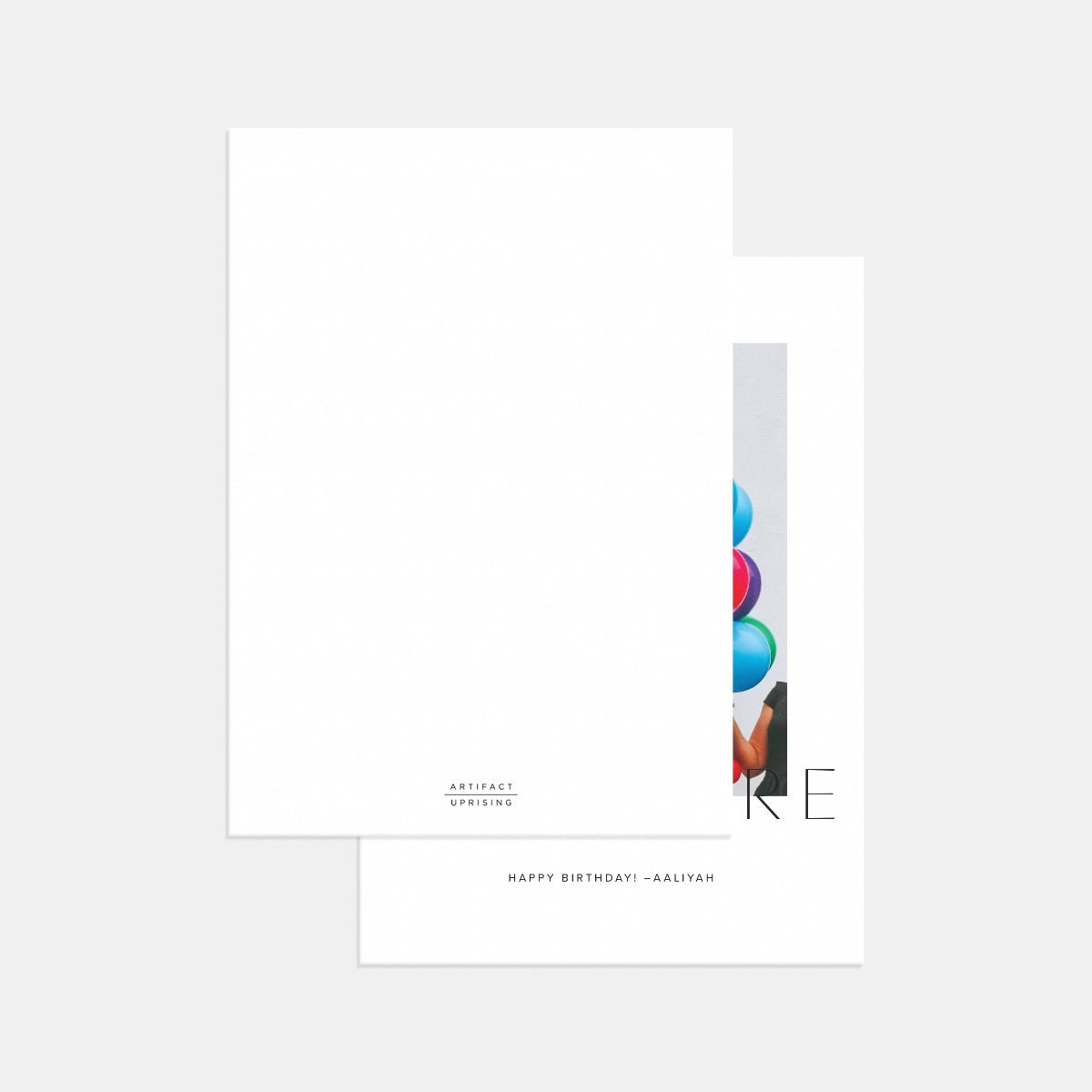 Elegant Overlay Birthday Card