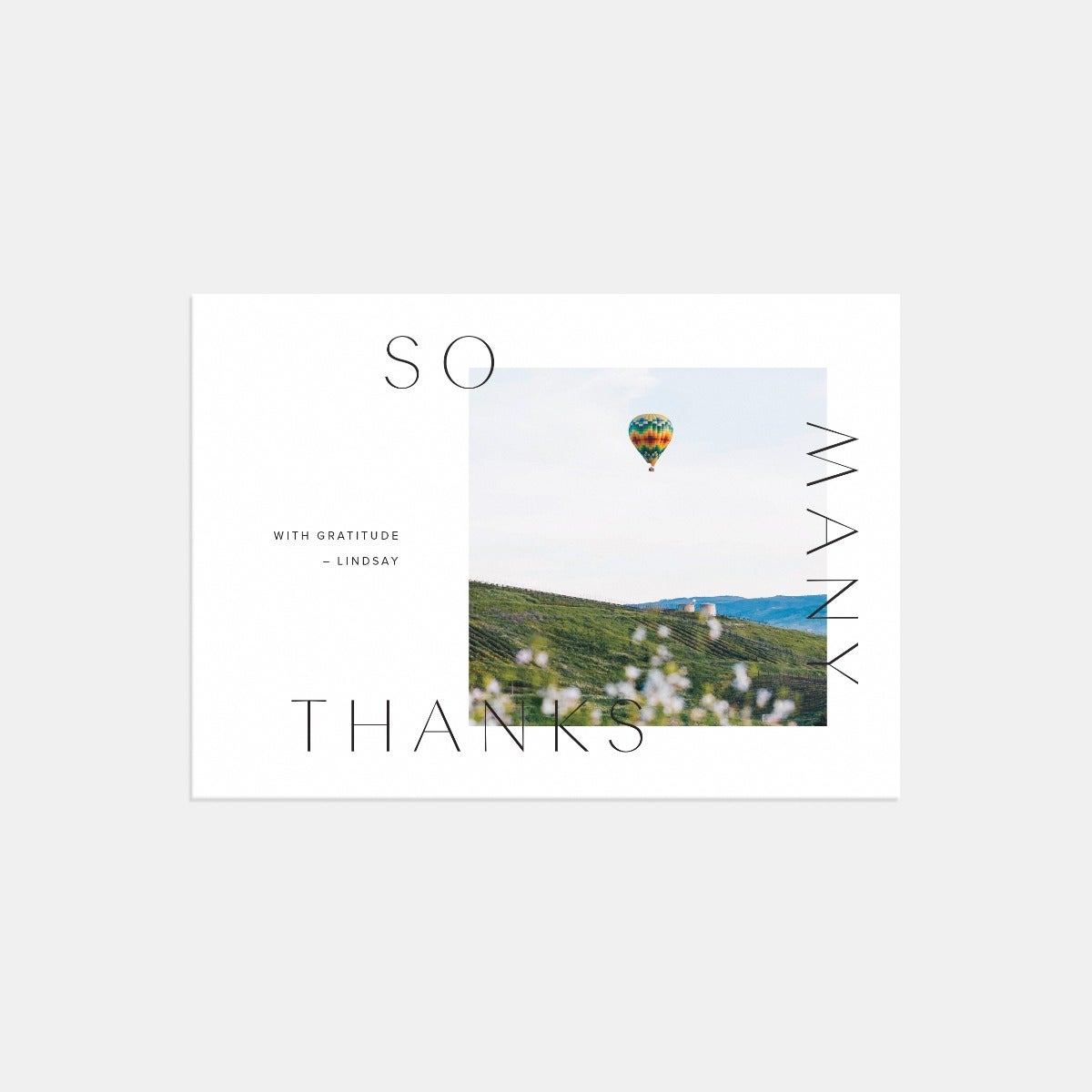 Elegant Overlay Thanks Card
