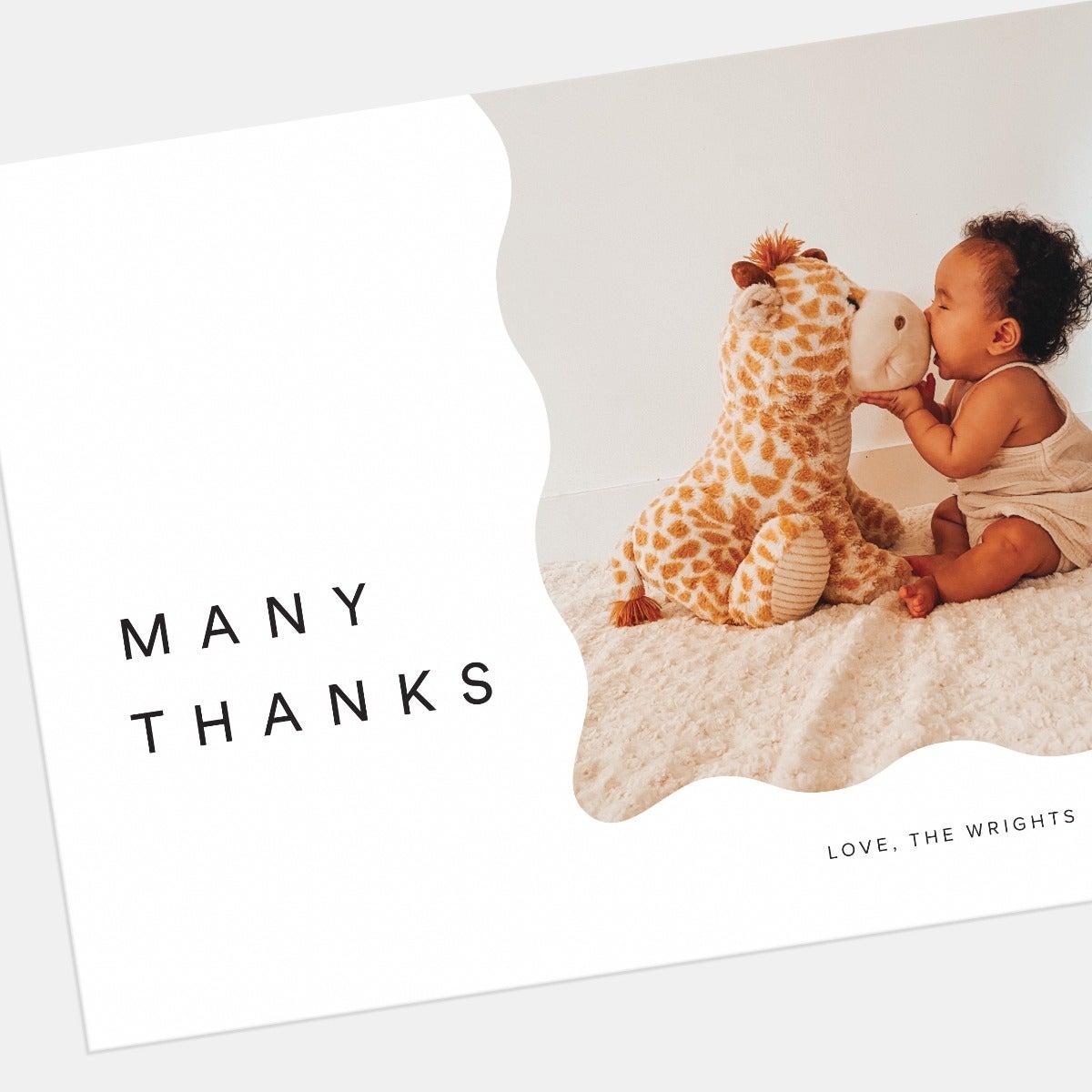 Wavy Thank You Card