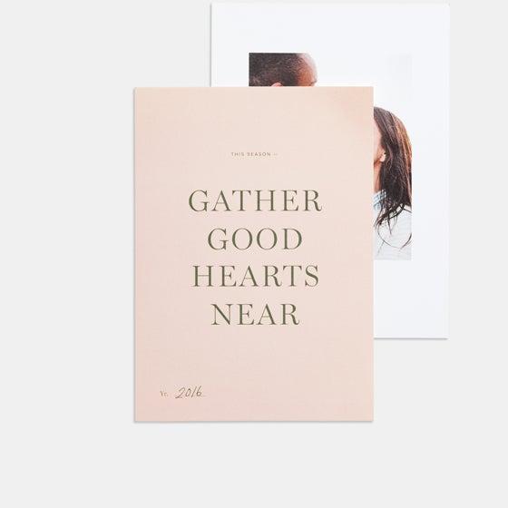 gather good hearts card