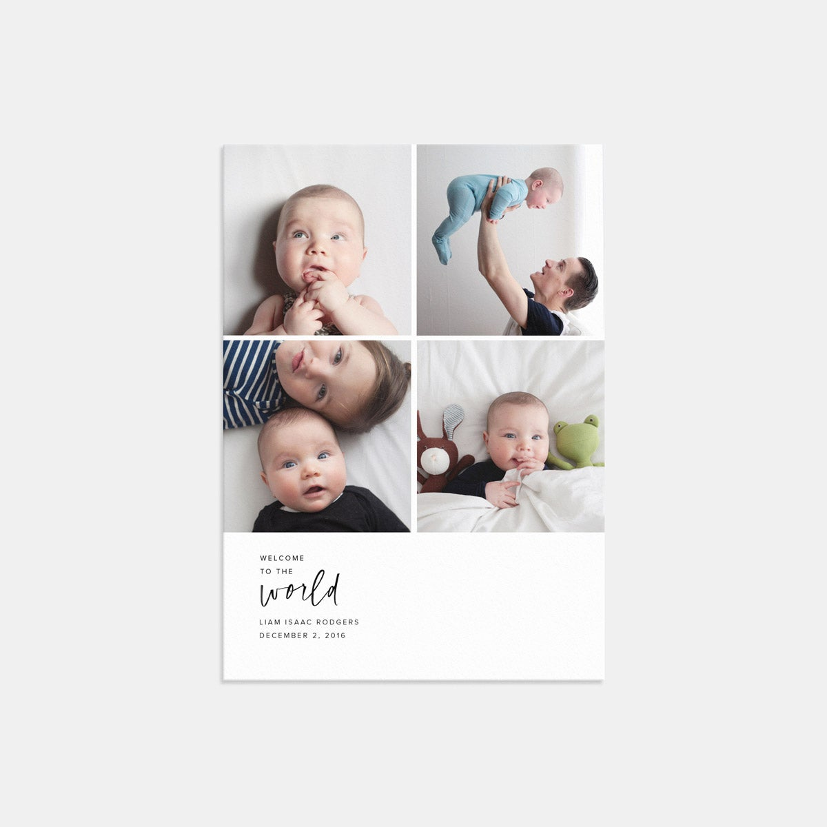 Multi-Image Baby Announcement