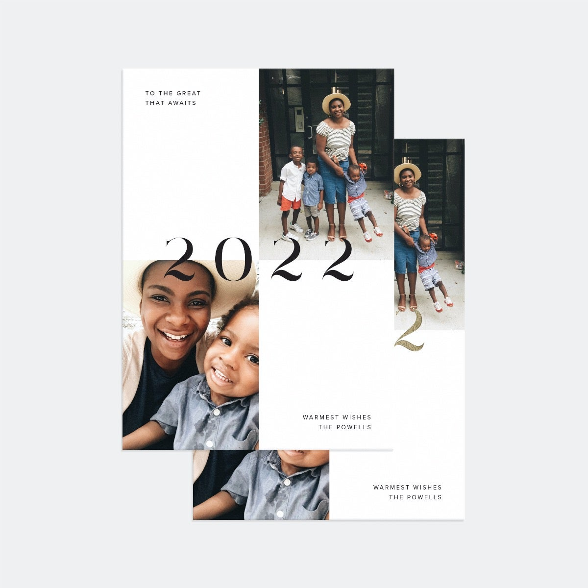 Bold 2022 New Years Card