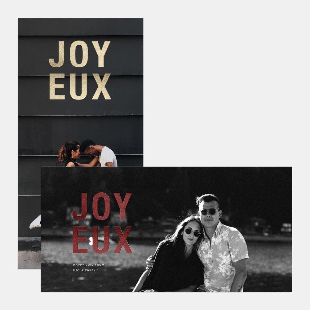 Bold Joyeux Holiday Card