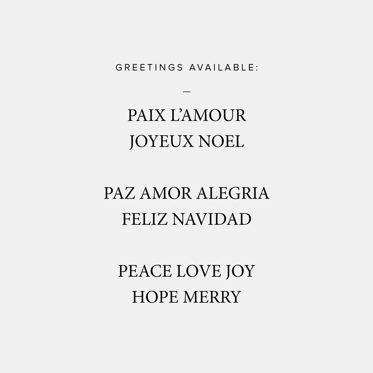 Border Greeting Holiday Card