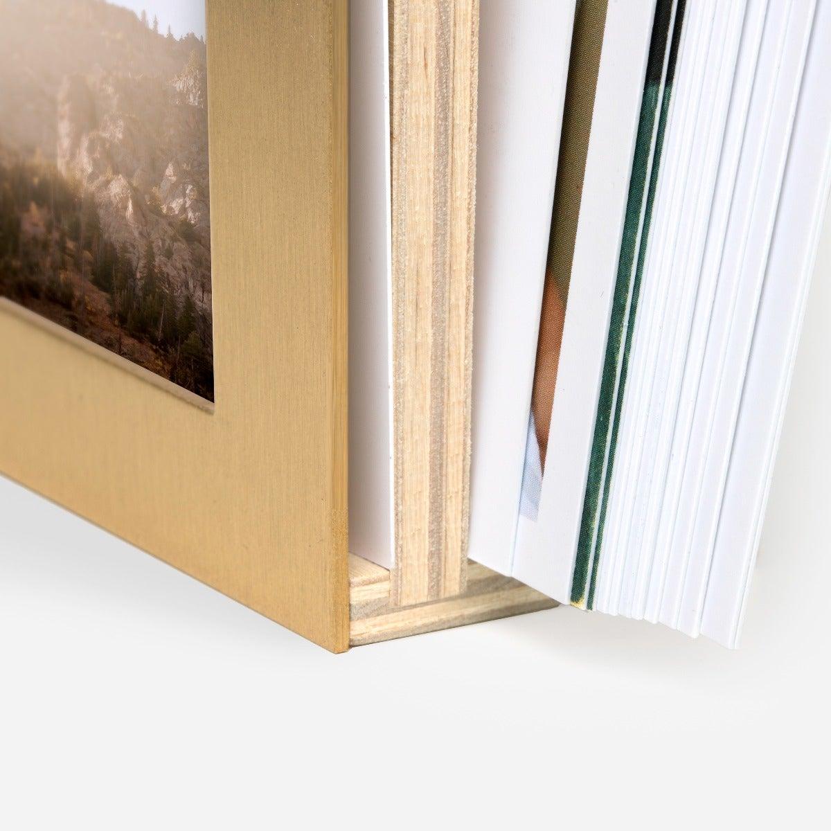Brass & Wood Display Box