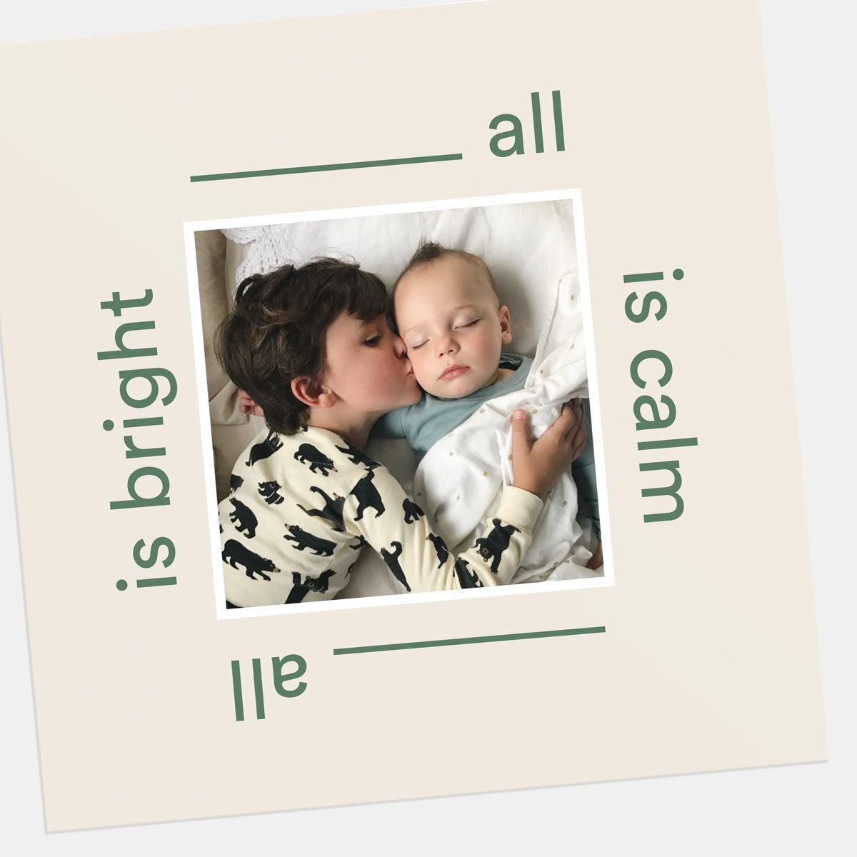 Calm & Bright Holiday Card
