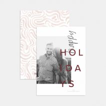 Hand-Lettered Holiday Card with Watercolor