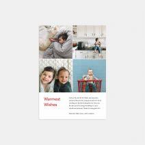 4-Image Grid Holiday Card