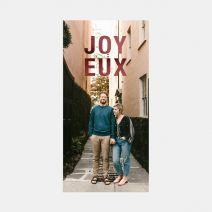 Bold Joyeux Holiday Card with Foil