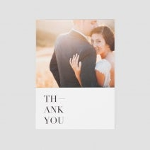 classic thank you card vertical