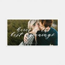 Hand-lettering Save the Date