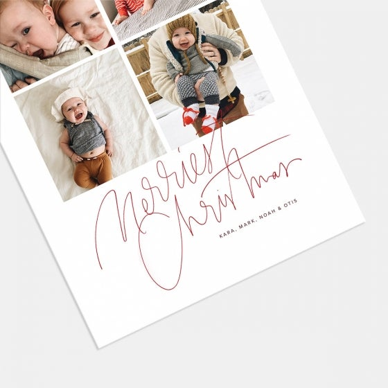 Hand-Lettered Merriest Christmas Card