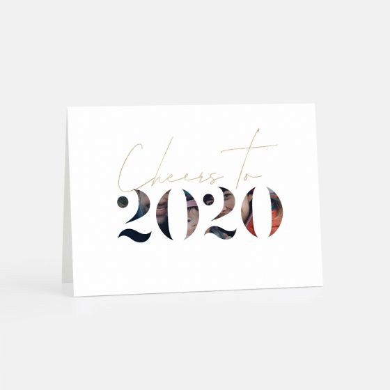 2020 Stencil Letters Holiday Card