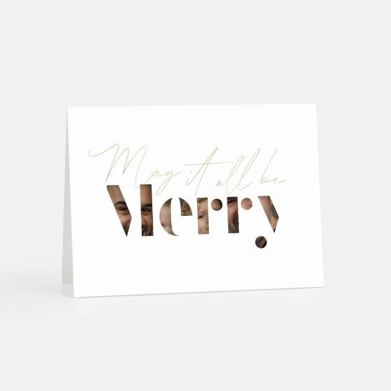 Merry Stencil Letters Holiday Card