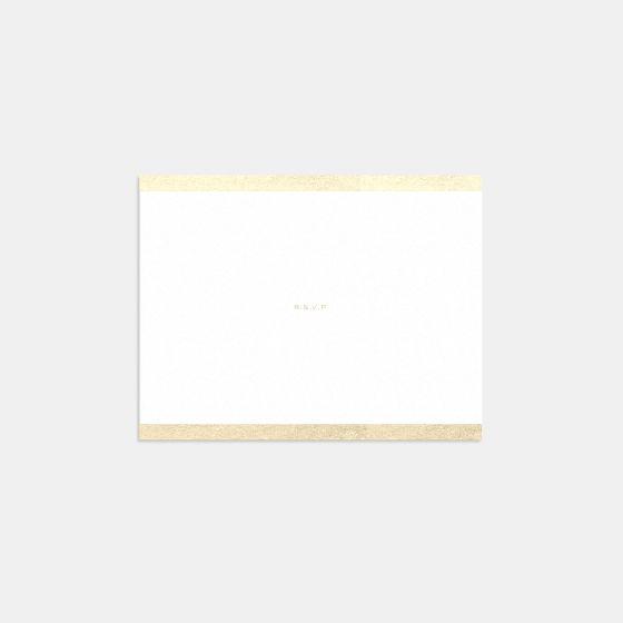 Foil-Stamped Colorblock RSVP Card