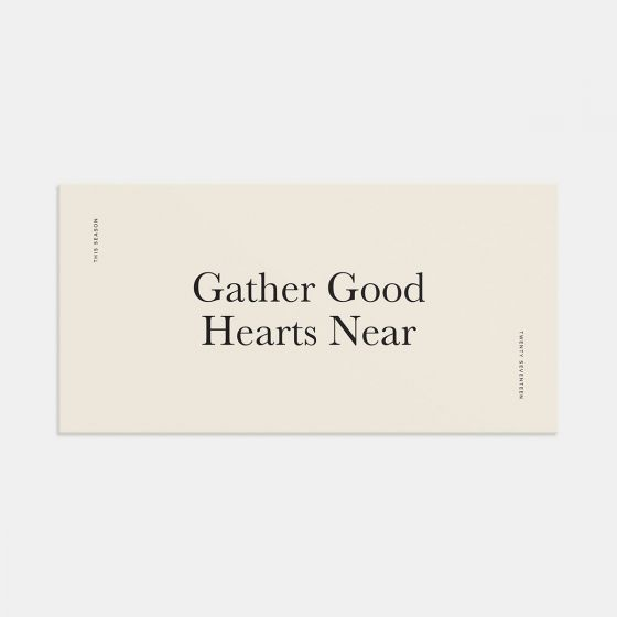 Gather Good Hearts Gathering Invitation