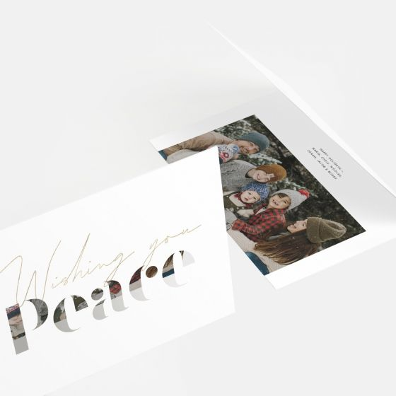 Peace Stencil Letters Holiday Card