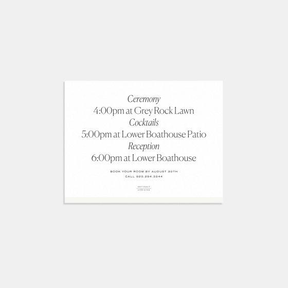 Foil-Stamped Colorblock Enclosure Card