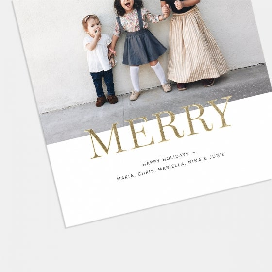 Bold Foil-Stamped Holiday Card