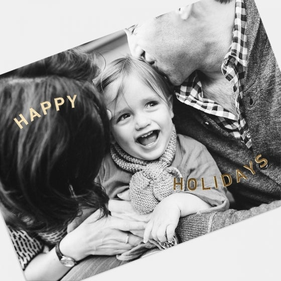 Foil-Stamped Happy Holidays Card