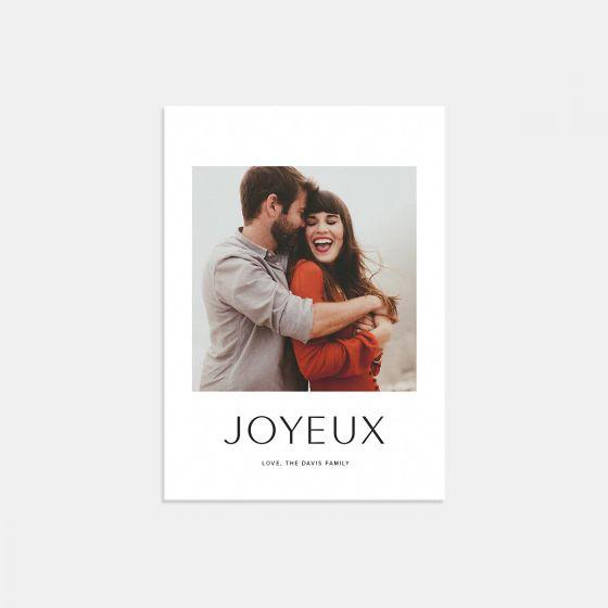 Simple Joyeux Card