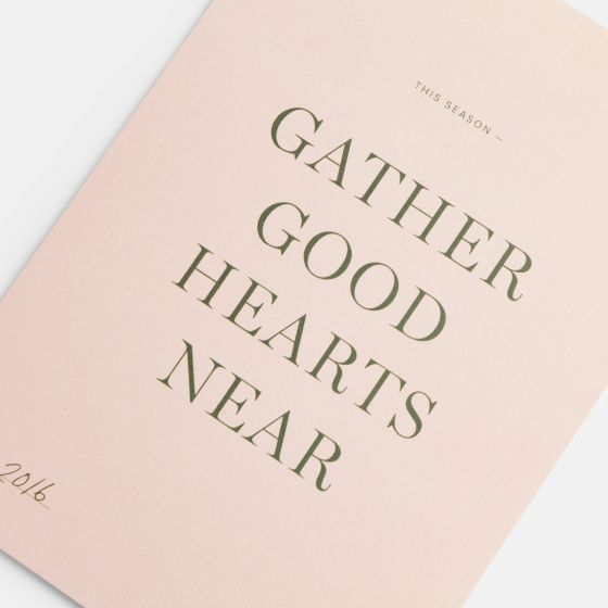 Gather Good Hearts Card (Serif)