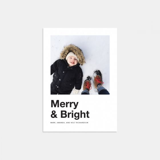 Bold Merry & Bright Holiday Card