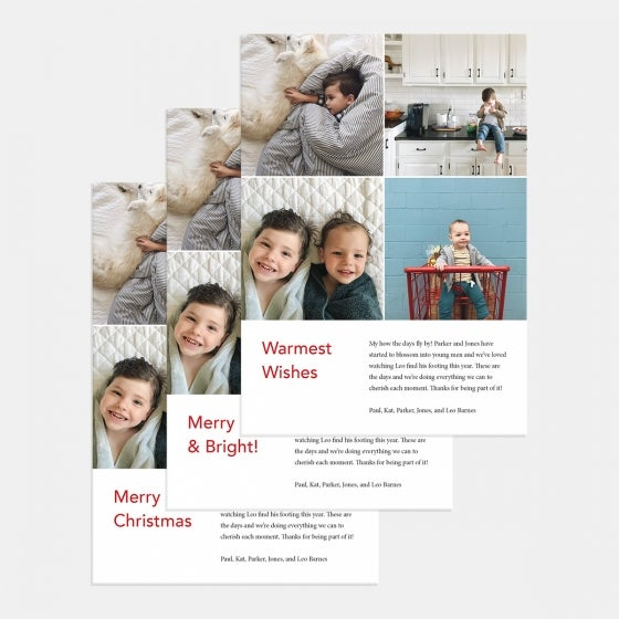 4-Image Grid Holiday Card