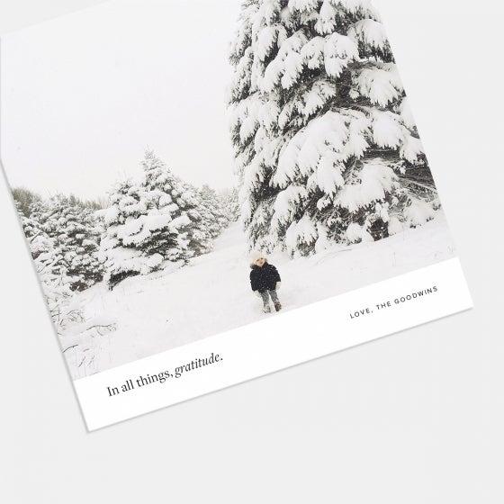 Square Gratitude Holiday Card