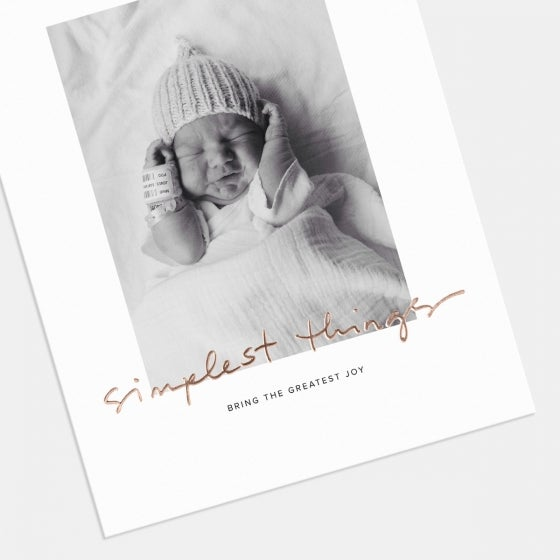 Simplest Things Birth Announcement with Foil