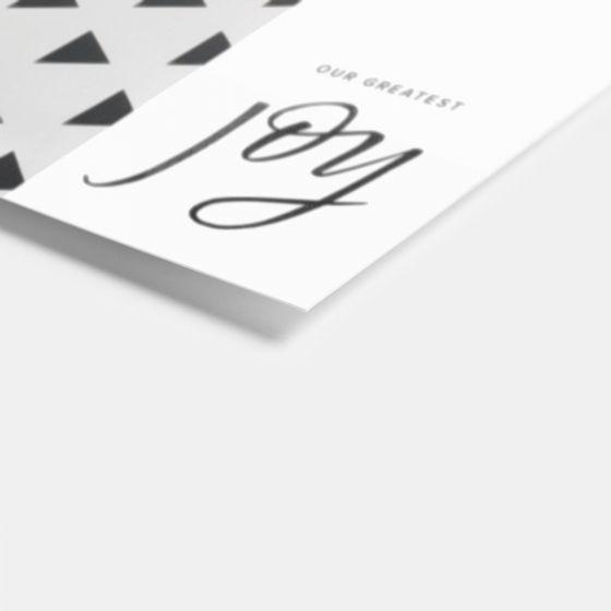 Joy Hand Lettered Birth Announcement