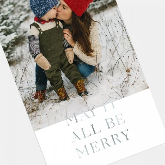 Be Merry Holiday Card with Foil
