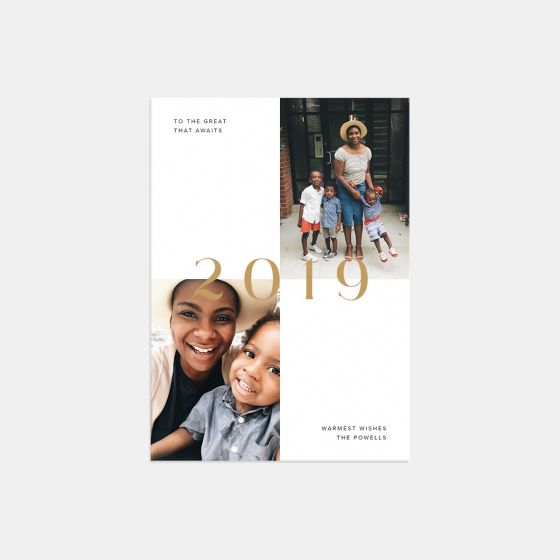 Bold 2019 New Years Card