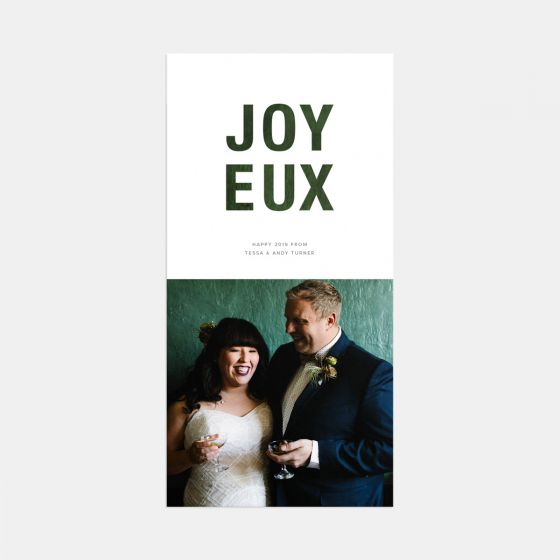 Bold Joyeux Overlay Card