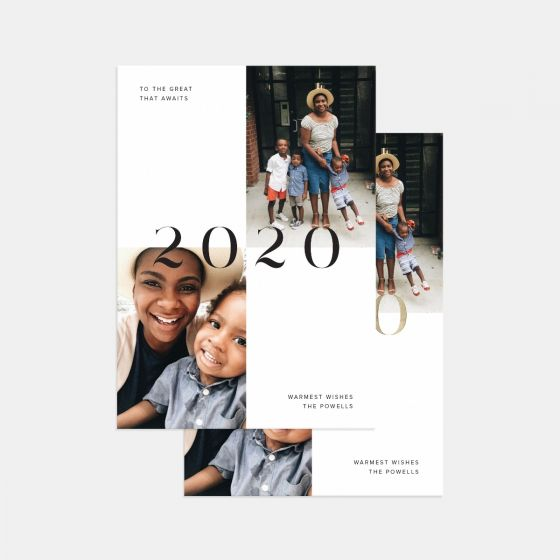 Bold 2020 New Years Card