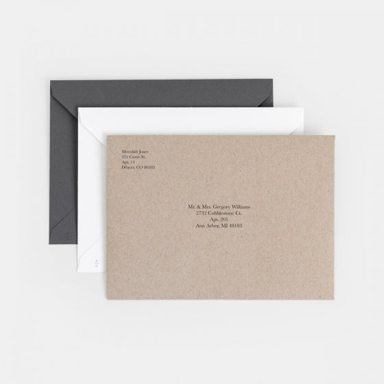 Modern Shapes Holiday Card with Foil