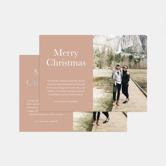 Colorblock Holiday Card