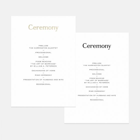 Contemporary Classic Day-Of Details Card