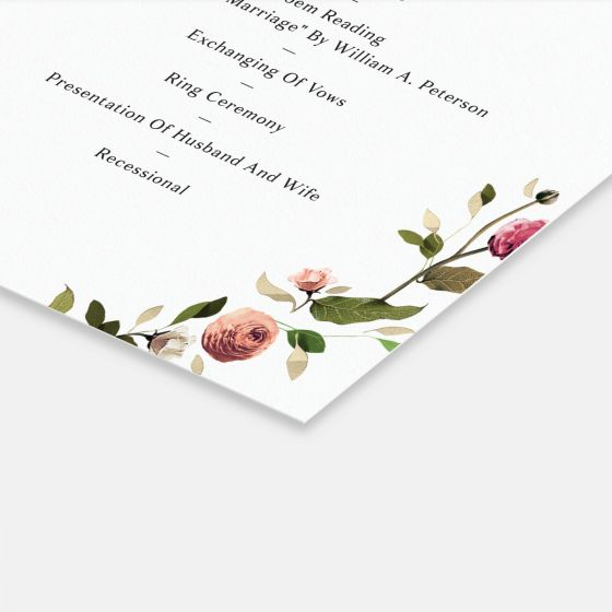 Venamour Botanical Day-Of Details Card