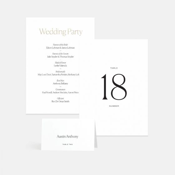 Pronounced Table Numbers