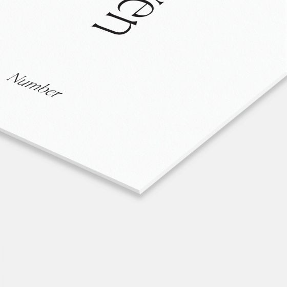 Simple Serif Table Numbers